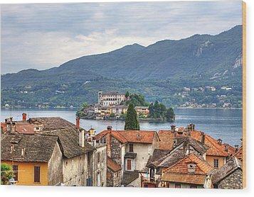 Orta - Overlooking The Island Of San Giulio Wood Print by Joana Kruse