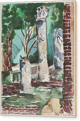 Ostia Antica Wood Print by Mindy Newman