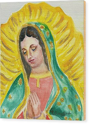 Our Lady Of Guadalupe Wood Print by Susan  Clark