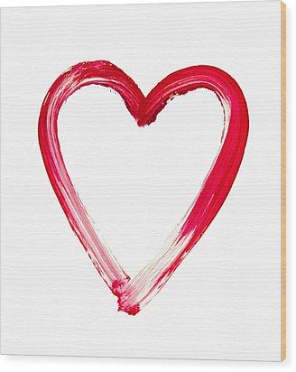 Painted Heart - Symbol Of Love Wood Print by Michal Boubin