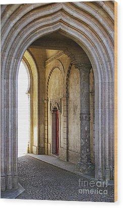 Palace Arch Wood Print by Carlos Caetano