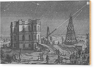 Paris Observatory, 17th Century Wood Print by Science Source