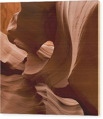 Patterns In The Smooth Sandstone Wood Print by Keith Levit