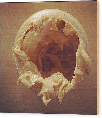Peanut Butter - Empty Glass Wood Print