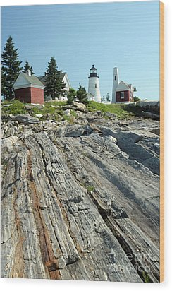 Pemaquid Point Lighthouse Wood Print by Ted Kinsman