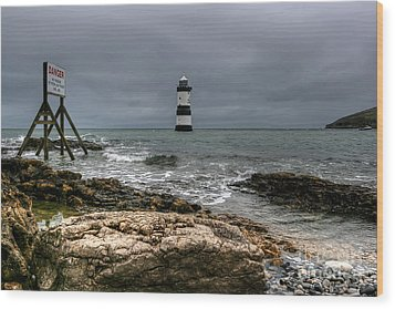 Penmon Point Wood Print by Adrian Evans
