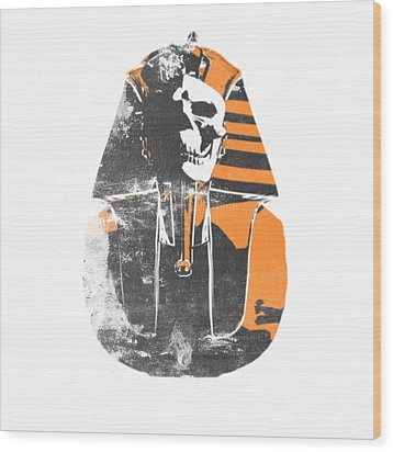 Pharaoh Stencil  Wood Print by Pixel  Chimp