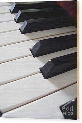Piano Keys Wood Print by Carlos Caetano