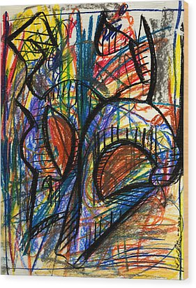 Picasso Wood Print by Sheridan Furrer