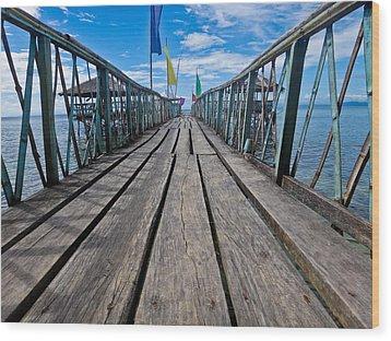 Pier Wood Print