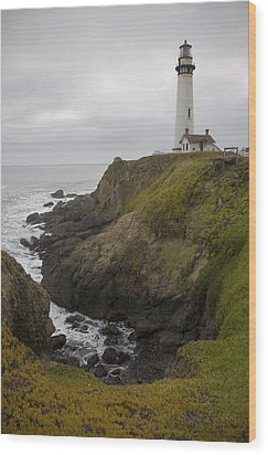Wood Print featuring the photograph Pigeon Point Lighthouse by Mike Irwin