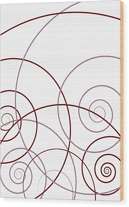 Pink And Red Abstract Wood Print by Frank Tschakert