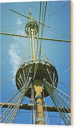 Pirate Ship Wood Print by Joana Kruse