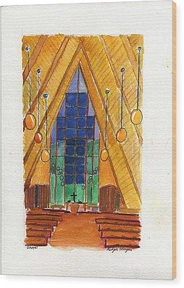 Placerville Chapel Wood Print by Rodger Ellingson