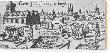 Plague, 1665 Wood Print by Science Source