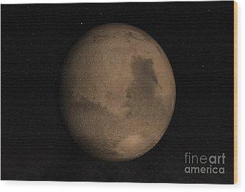 Planet Mars Wood Print by Stocktrek Images