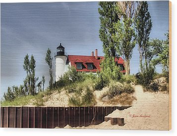 Wood Print featuring the photograph Point Betsie Lighthouse II by Joan Bertucci