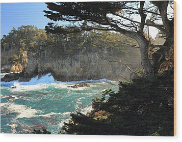 Wood Print featuring the photograph Point Lobos Cypress by Scott Rackers