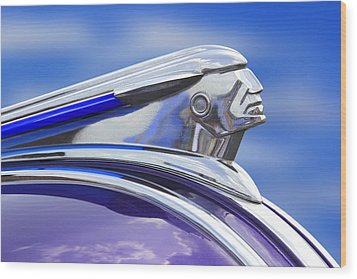 Pontiac Hood Ornament  Wood Print by Mike McGlothlen