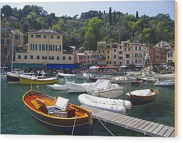 Portofino In The Italian Riviera In Liguria Italy Wood Print by David Smith