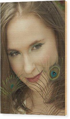 Portrait Wood Print by Daniel Csoka