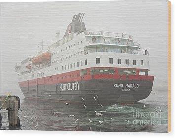 Post Ship  Wood Print by Heiko Koehrer-Wagner