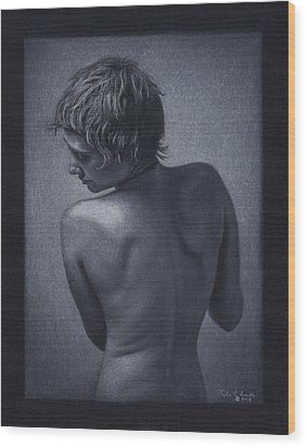 Posterior Nude Wood Print by Tyler Smith