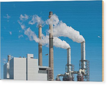 Wood Print featuring the photograph Power Plant by Hans Engbers