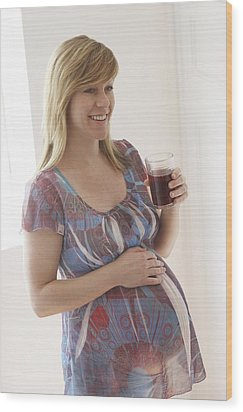 Pregnant Woman Wood Print by Ruth Jenkinson