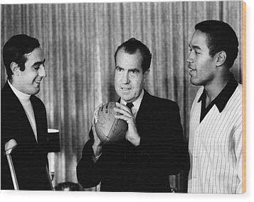 President-elect Richard Nixon Wood Print by Everett