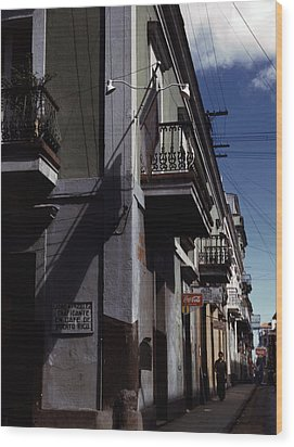 Puerto Rico. Street In San Juan, Puerto Wood Print by Everett