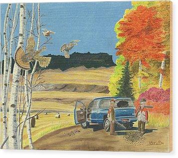 Purebreds Wood Print by Tim Koziol