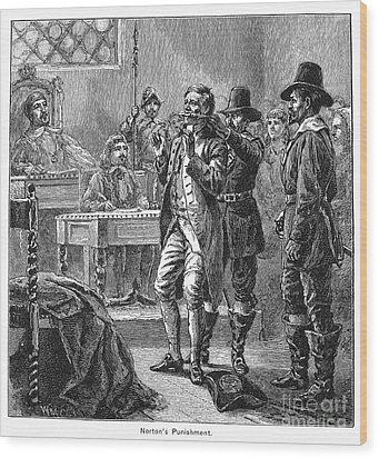 Puritan Punishment Wood Print by Granger
