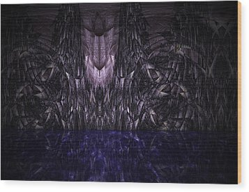 Purple Caverns Wood Print by Christopher Gaston