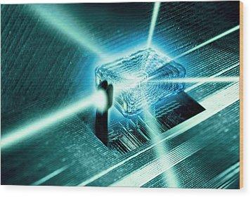 Quantum Computer Core Wood Print by Richard Kail
