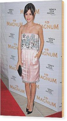 Rachel Bilson Wearing A Chanel Couture Wood Print by Everett