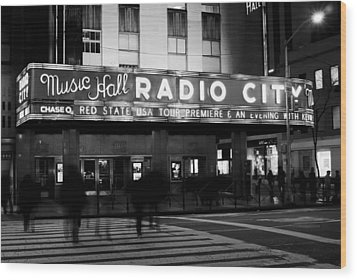Wood Print featuring the photograph Radio City Music Hall by Michael Dorn