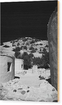 reconstruction of Choirokoitia ancient neolithic village settlement republic of cyprus Wood Print by Joe Fox