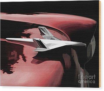 Red Chevy Jet Wood Print by Douglas Pittman