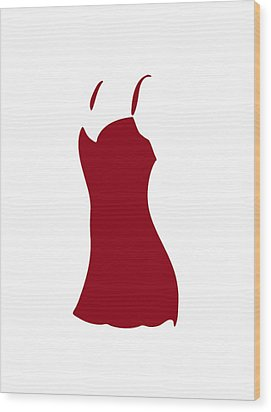 Red Dress Wood Print by Frank Tschakert