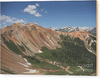 Red Mountain Wood Print