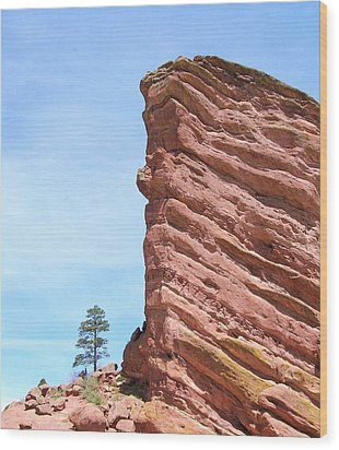 Red Rocks Wood Print by Arlene Carmel
