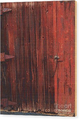 Red Shed Wood Print by RC DeWinter