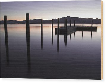 Reflective Thoughts Wood Print by Brad Scott