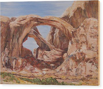 Wood Print featuring the painting Refuge by George Richardson