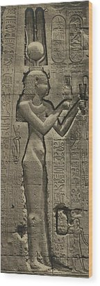 Relief Sculpture Of Cleopatra Vii 69-30 Wood Print by Everett