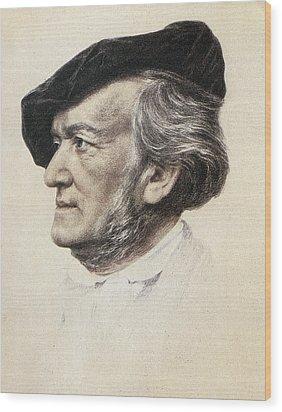 Richard Wagner (1813-1883) Wood Print by Granger