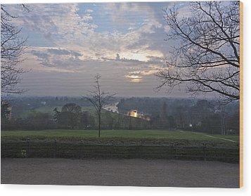 Wood Print featuring the photograph Richmond Sunset by Maj Seda