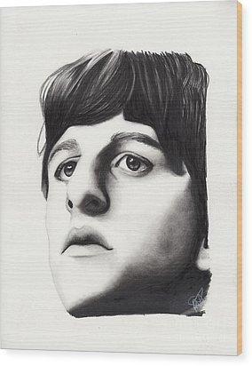Ringo Starr Wood Print by Rosalinda Markle
