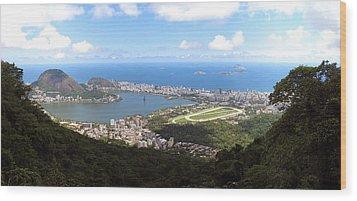 Rio De Janeiro Wood Print by Luis Esteves